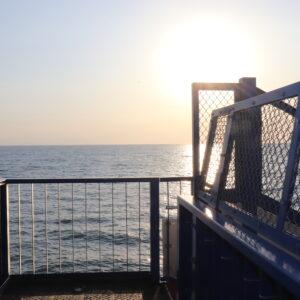 日帰りでもOK!北船岡駅で海に沈む夕日を眺める